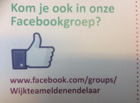 Kom je ook in onze Facebookgroep